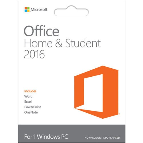 Phần mềm Microsoft Office Home And Student 2016 Win English APAC EM Medialess (79G-04363)