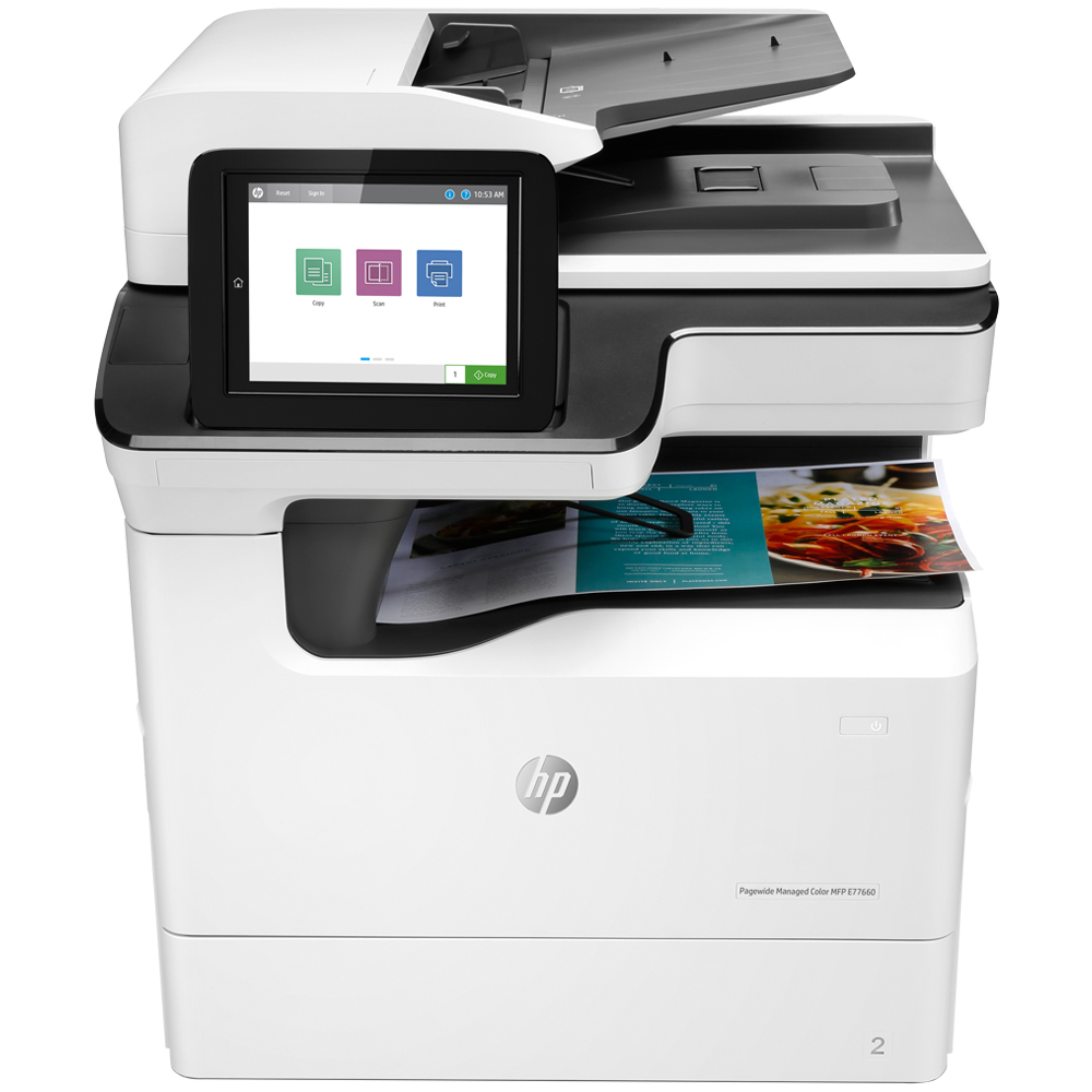 Máy in HP laser màu PageWide Managed Color MFP P77740dn