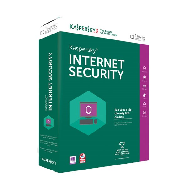 Phần mềm Kaspersky Internet Security (KAS) 1PC