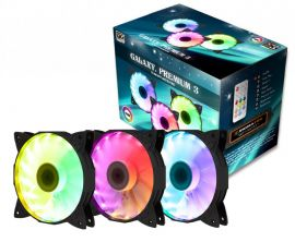 Fan Case XIGMATEK GALAXY PREMIUM - EN40223 - (CH120+CHB1) - RGB: RAINBOW (PACK x3, CONTROLLER, POWER HUB)